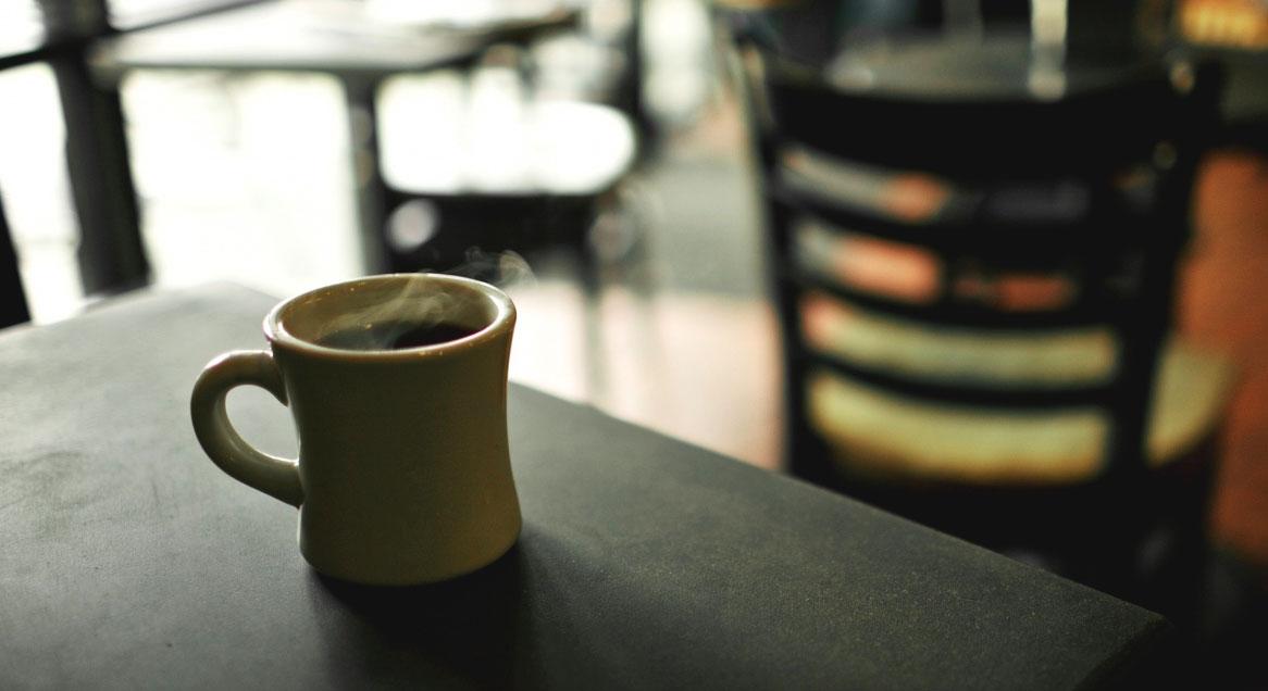 Kaffepaus med vänner